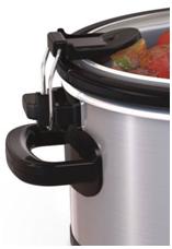 Slow cooker lock lid