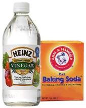 Vingear and baking soda