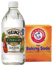 Vingear and baking soda