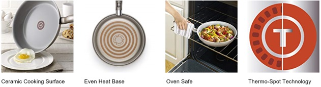 T-fal Ceramic Cookware