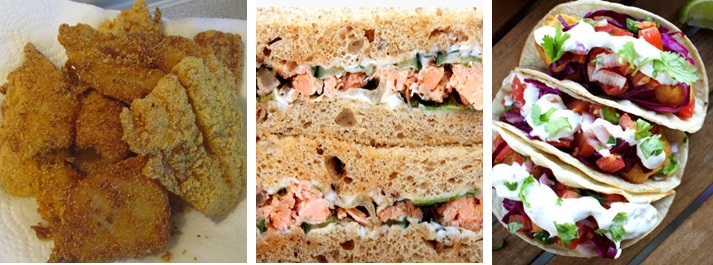 Fabulous sandwiches and Baja fish